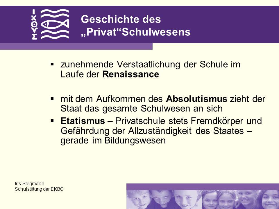 "Geschichte des ""Privat Schulwesens"