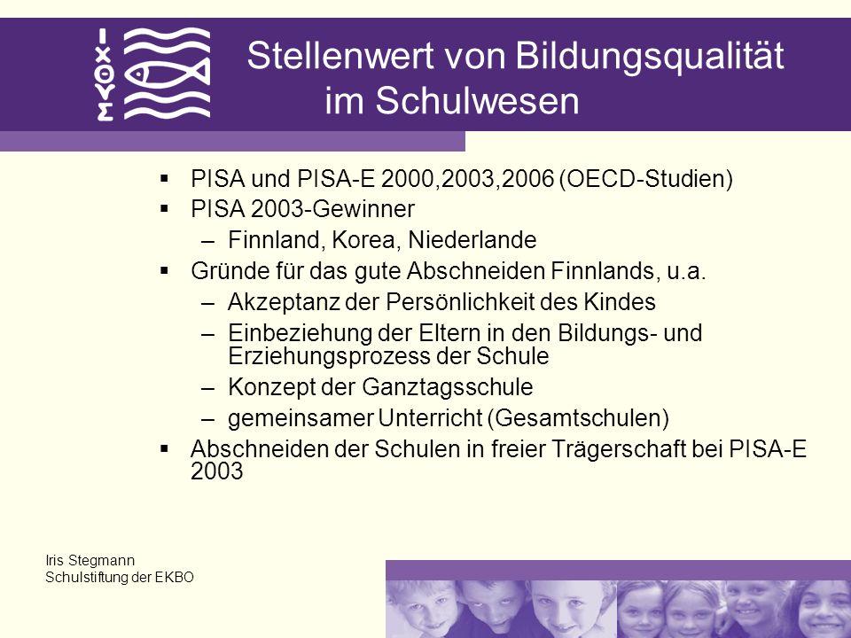Stellenwert von Bildungsqualität im Schulwesen