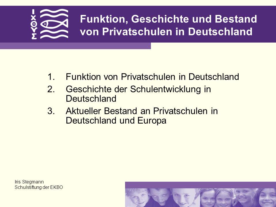 Funktion, Geschichte und Bestand von Privatschulen in Deutschland