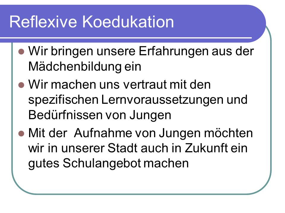 Reflexive Koedukation