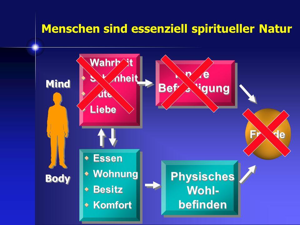 Innere Befriedigung Physisches Wohl- befinden