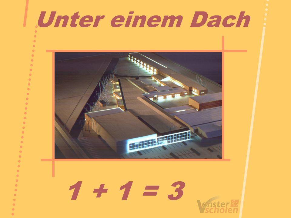 Unter einem Dach 1 + 1 = 3