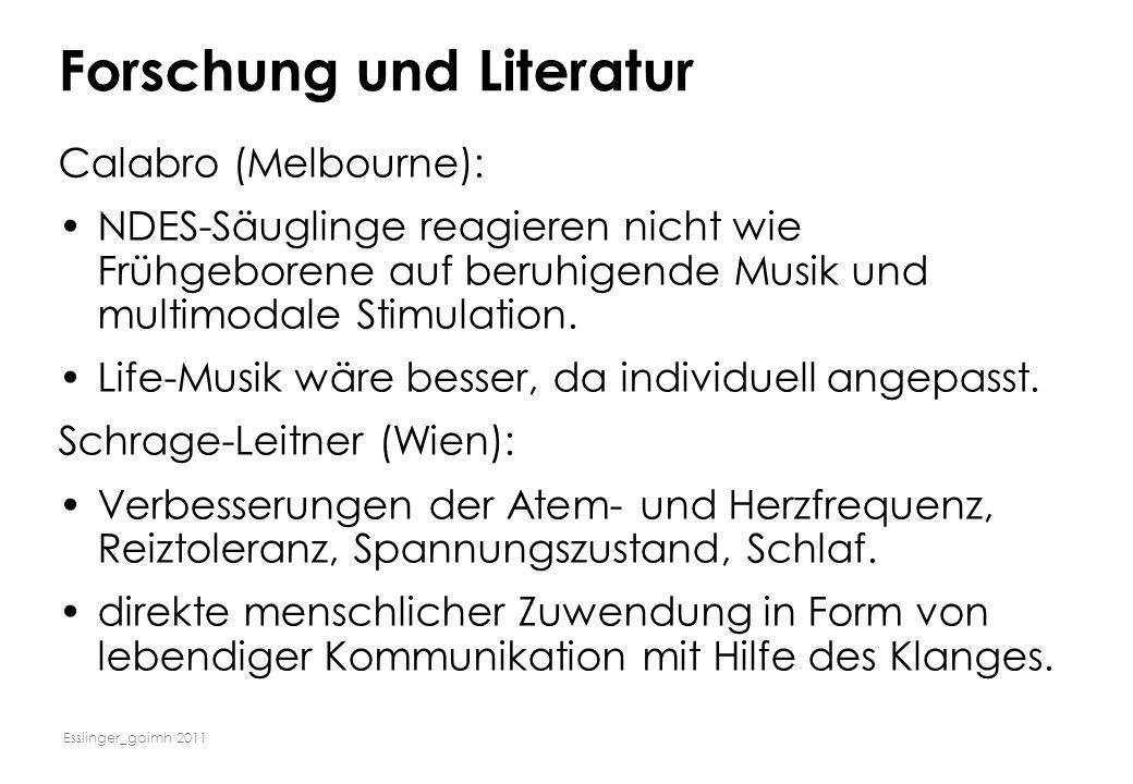 Forschung und Literatur