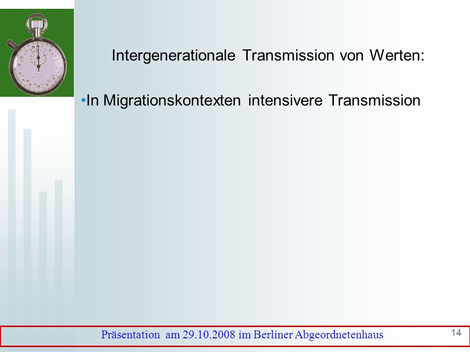 Intergenerationale Transmission von Werten: