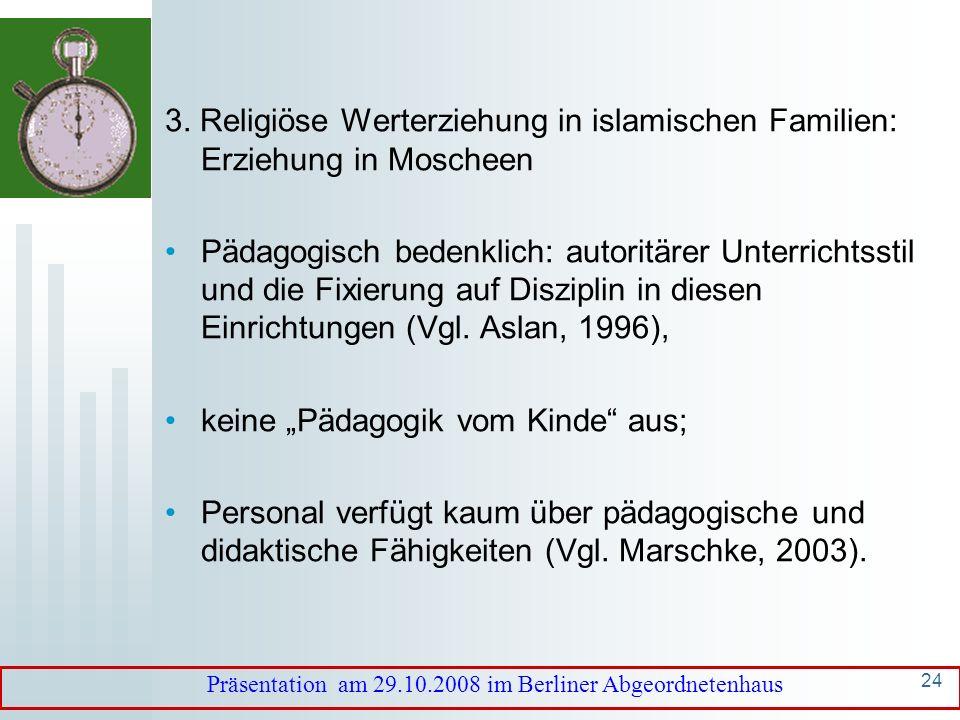 Präsentation am 29.10.2008 im Berliner Abgeordnetenhaus