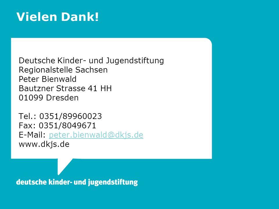 Vielen Dank! Deutsche Kinder- und Jugendstiftung