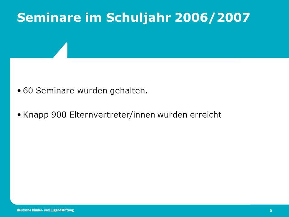 Seminare im Schuljahr 2006/2007