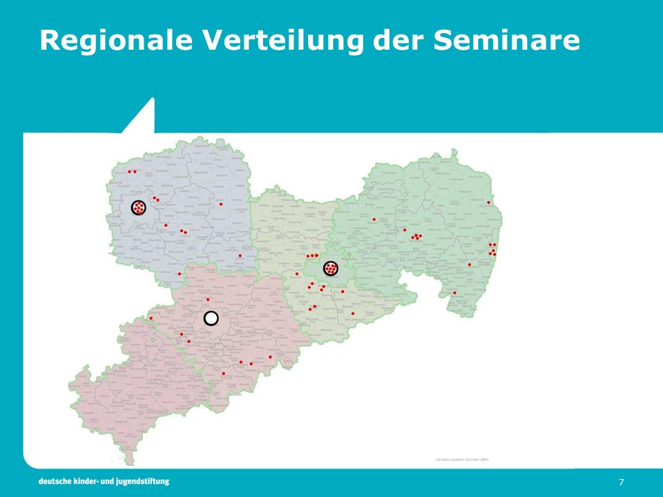 Regionale Verteilung der Seminare