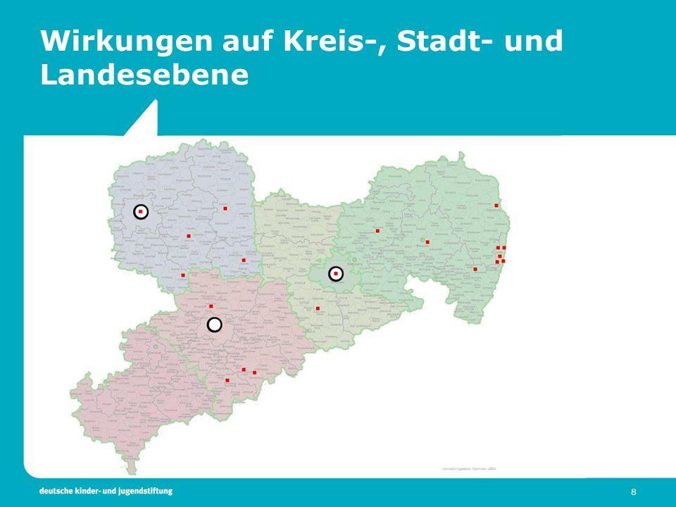 Wirkungen auf Kreis-, Stadt- und Landesebene