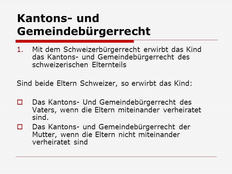 Kantons- und Gemeindebürgerrecht
