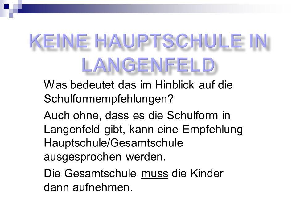Keine Hauptschule in Langenfeld