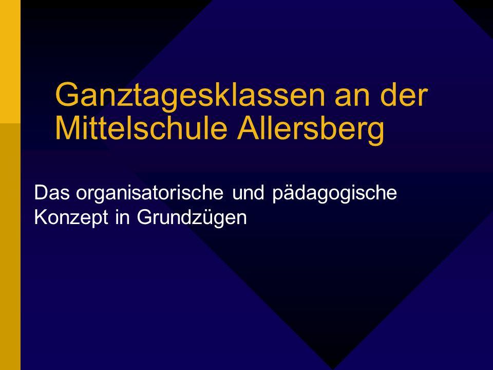 Ganztagesklassen an der Mittelschule Allersberg