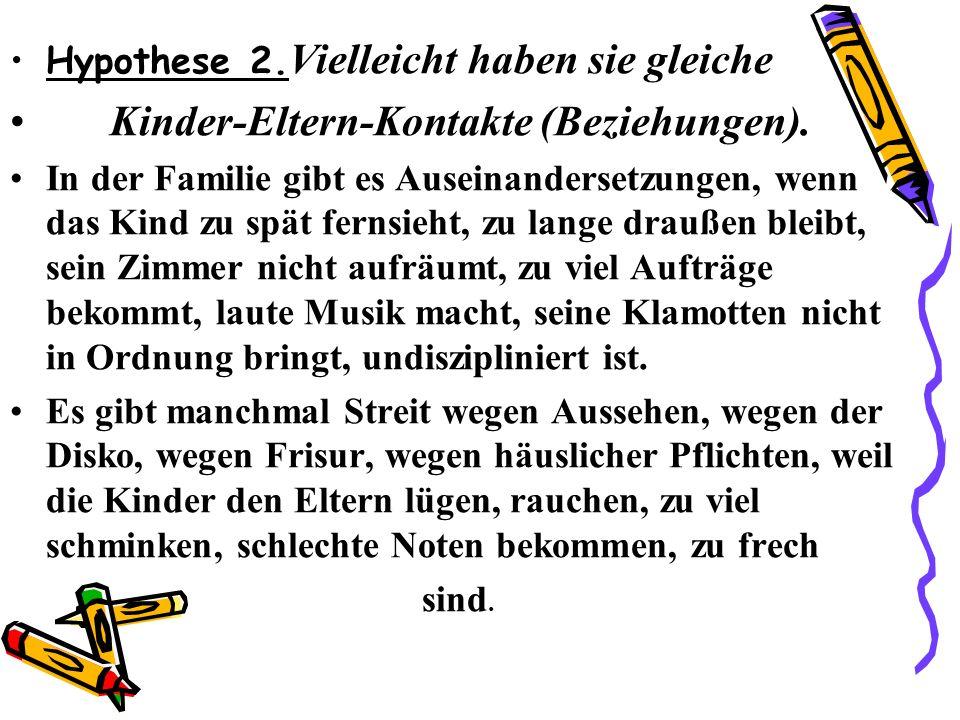 Kinder-Eltern-Kontakte (Beziehungen).