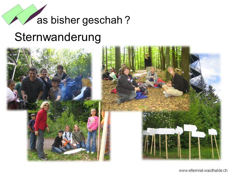 as bisher geschah Sternwanderung www.elternrat-waidhalde.ch