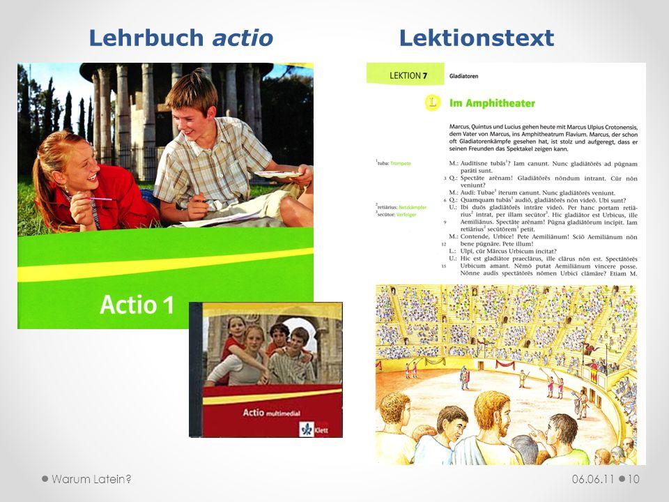 Lehrbuch actio Lektionstext
