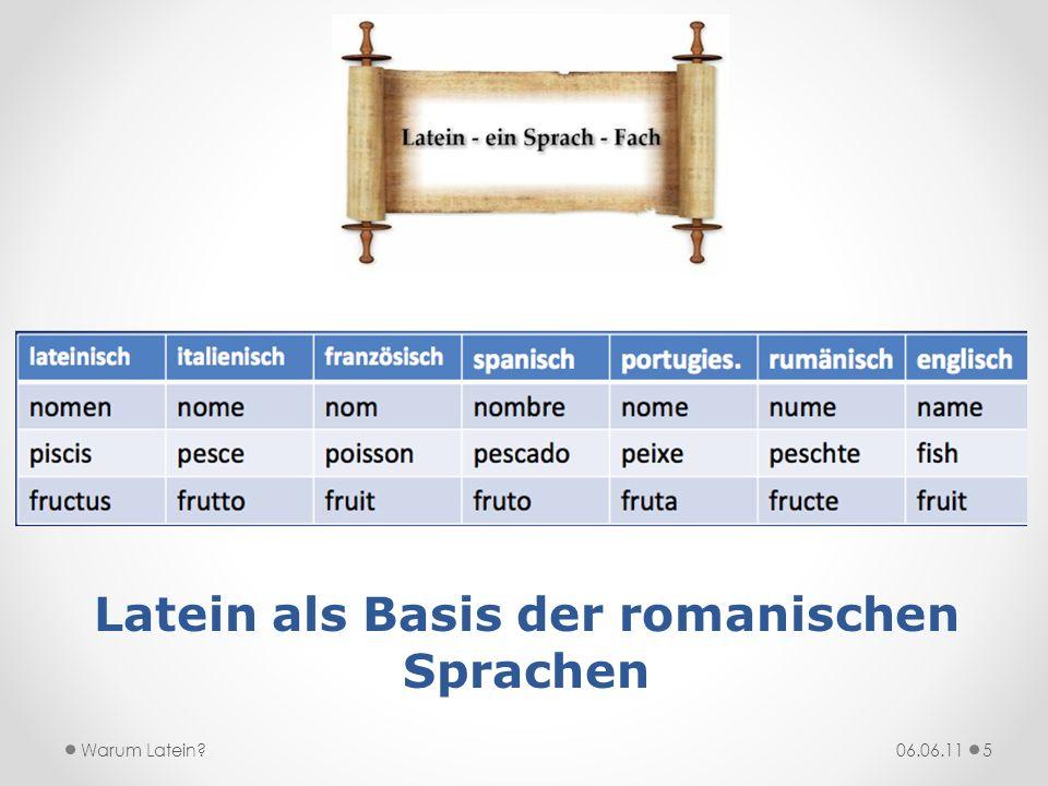 Latein als Basis der romanischen Sprachen