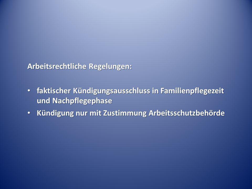 Arbeitsrechtliche Regelungen: