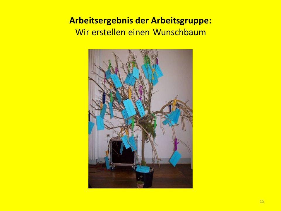 Arbeitsergebnis der Arbeitsgruppe: Wir erstellen einen Wunschbaum