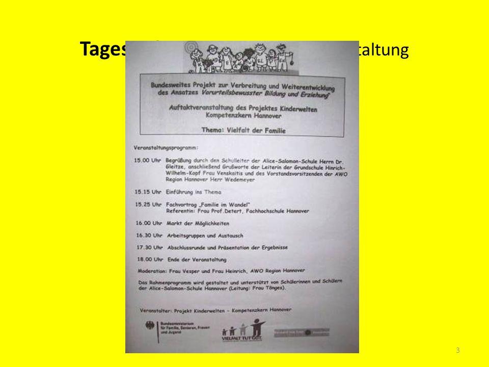 Tagesordnung der Auftaktveranstaltung