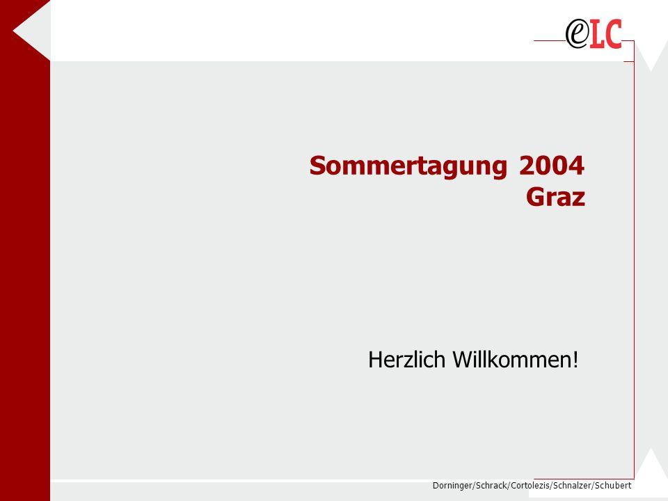 Sommertagung 2004 Graz Herzlich Willkommen!