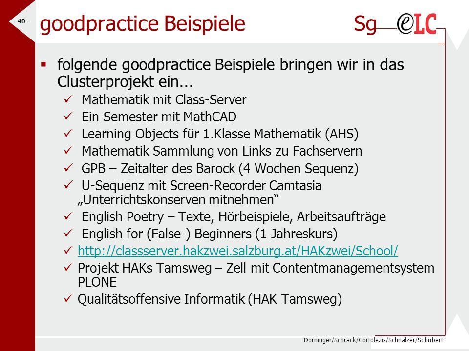 goodpractice Beispiele Sg