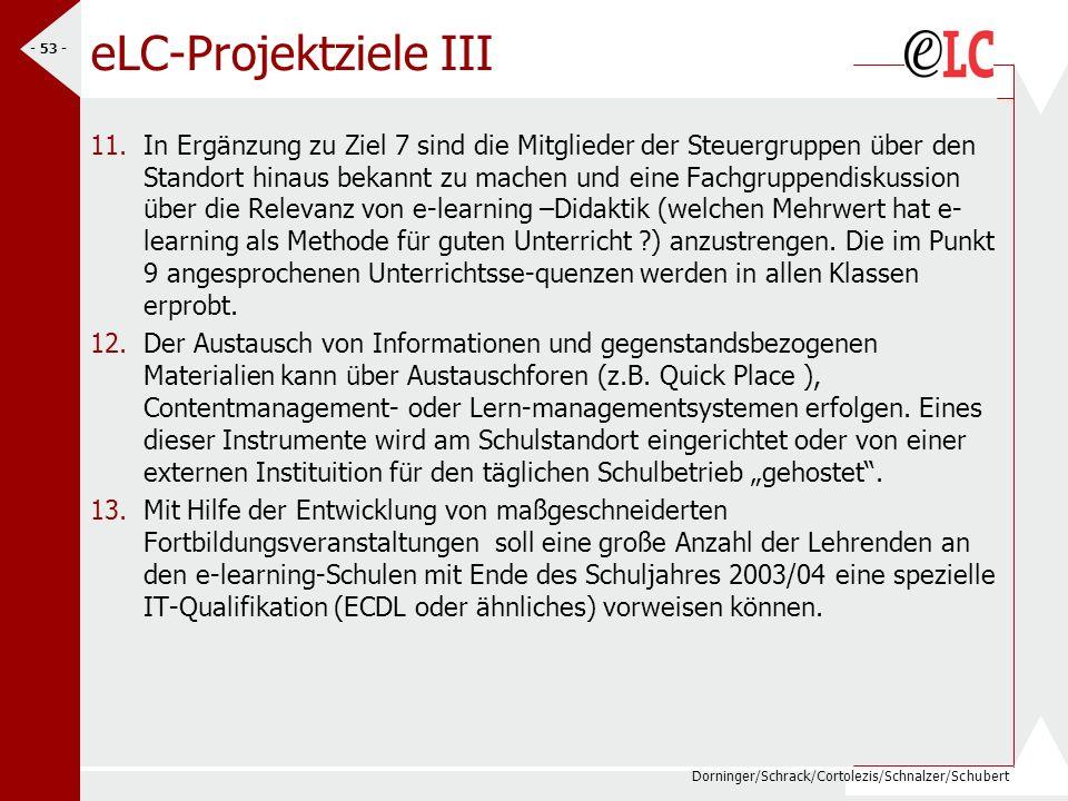 eLC-Projektziele III