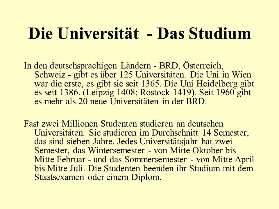 Die Universität - Das Studium