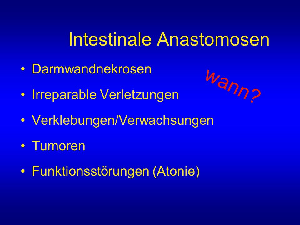 Intestinale Anastomosen