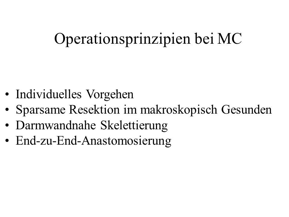 Operationsprinzipien bei MC