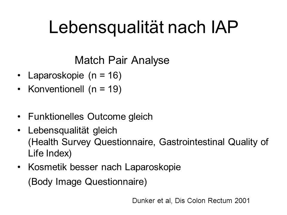 Lebensqualität nach IAP