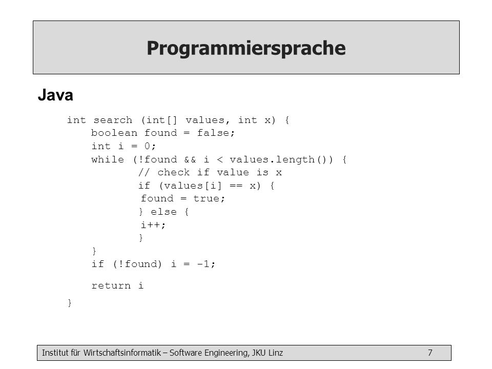 Programmiersprache Java
