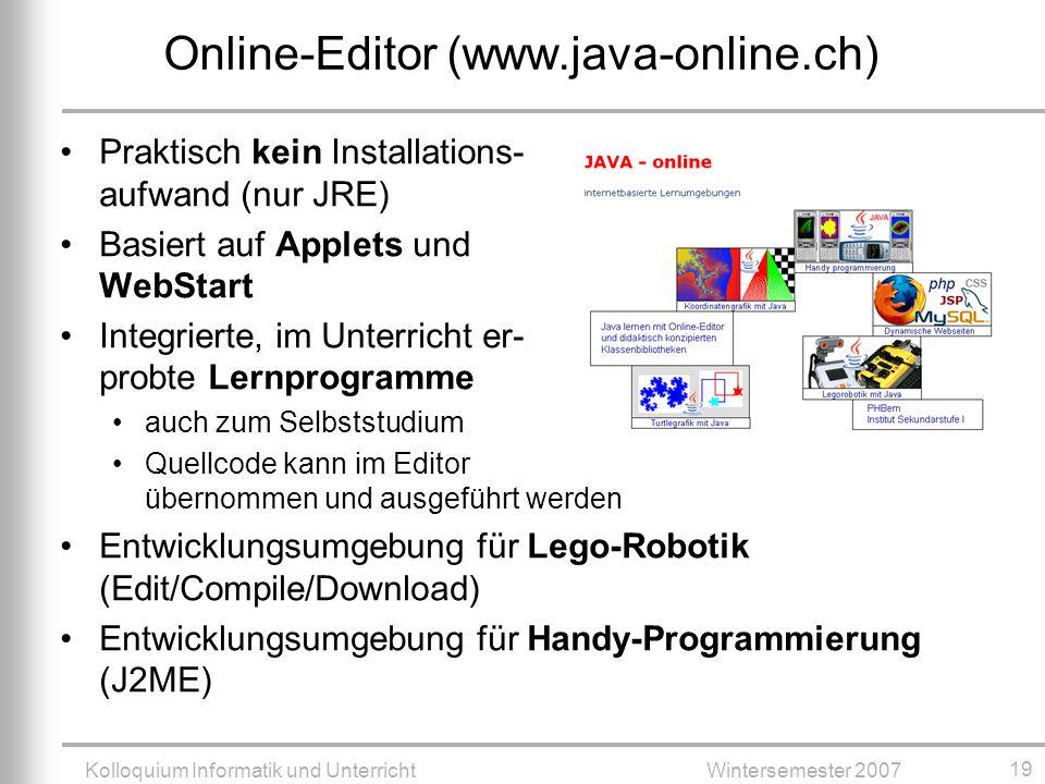 Online-Editor (www.java-online.ch)