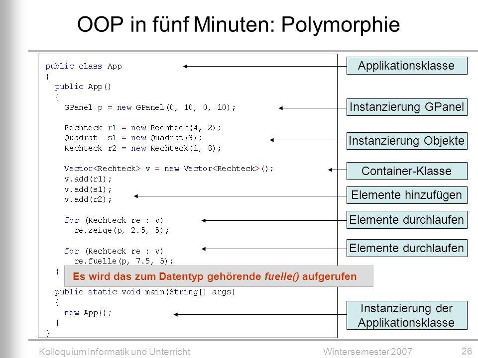 OOP in fünf Minuten: Polymorphie