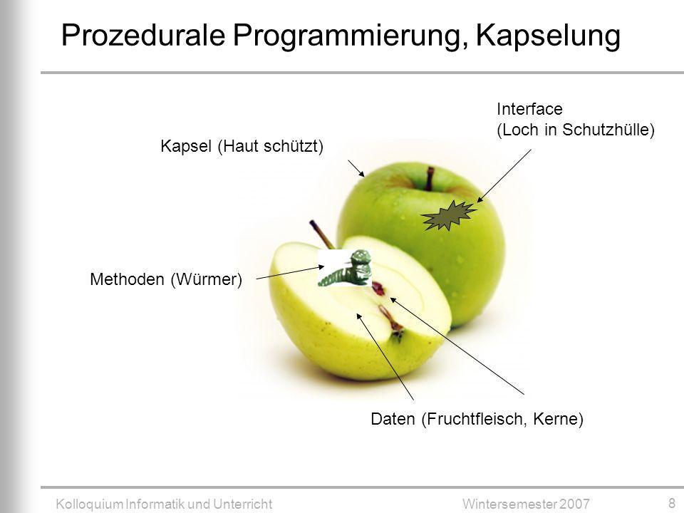Prozedurale Programmierung, Kapselung