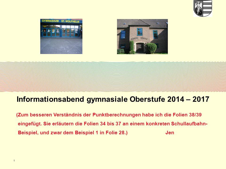 Informationsabend gymnasiale Oberstufe 2014 – 2017