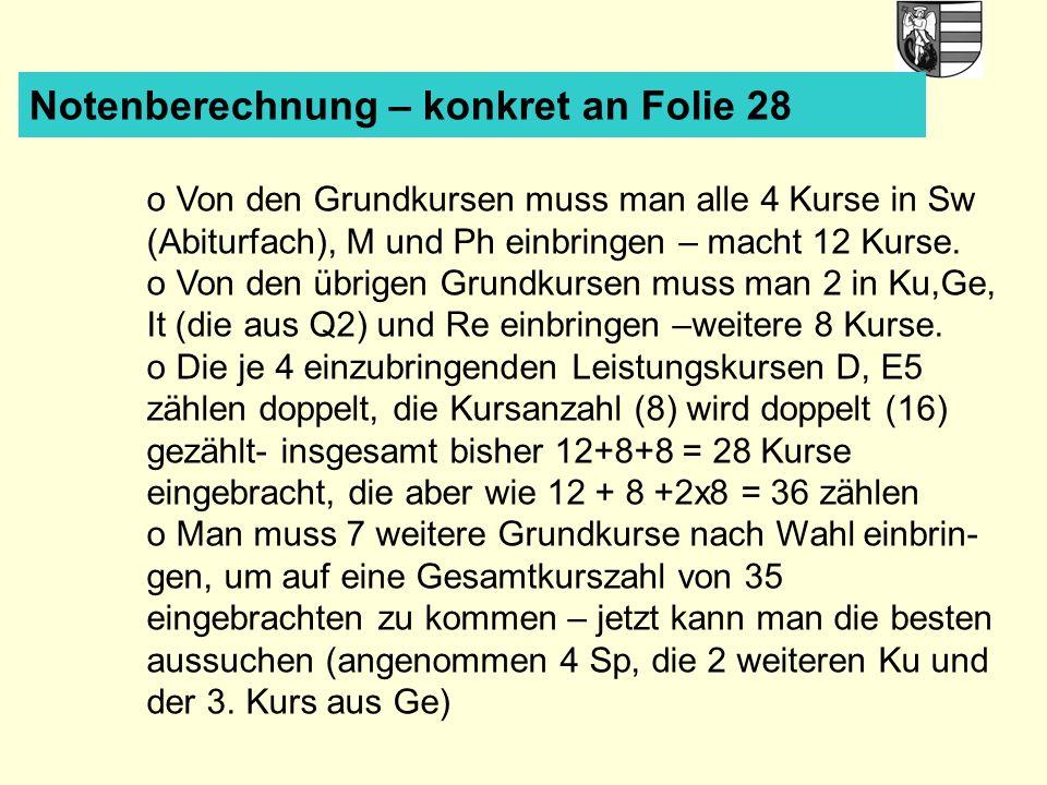 Notenberechnung – konkret an Folie 28