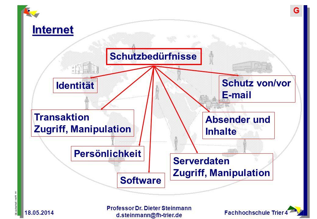 Professor Dr. Dieter Steinmann d.steinmann@fh-trier.de