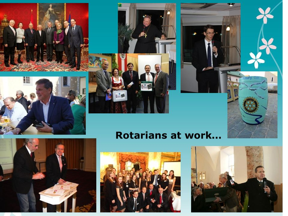 5 Rotarians at work…