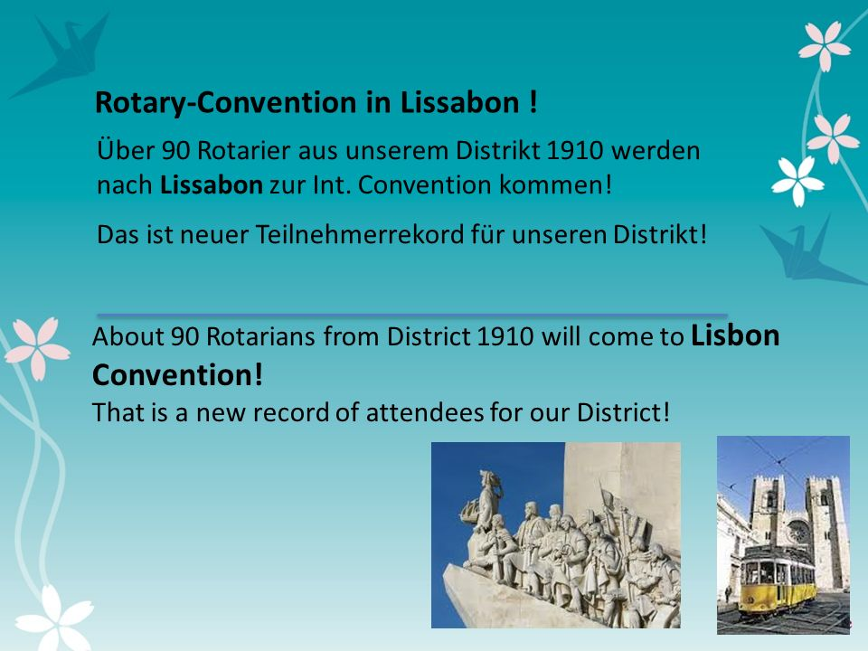5 Rotary-Convention in Lissabon !