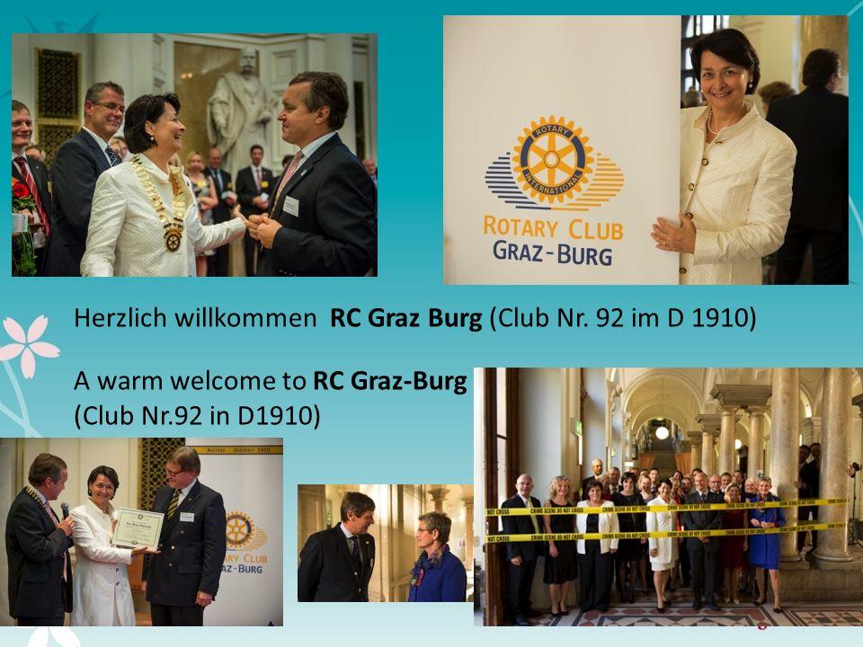 5 Herzlich willkommen RC Graz Burg (Club Nr. 92 im D 1910)