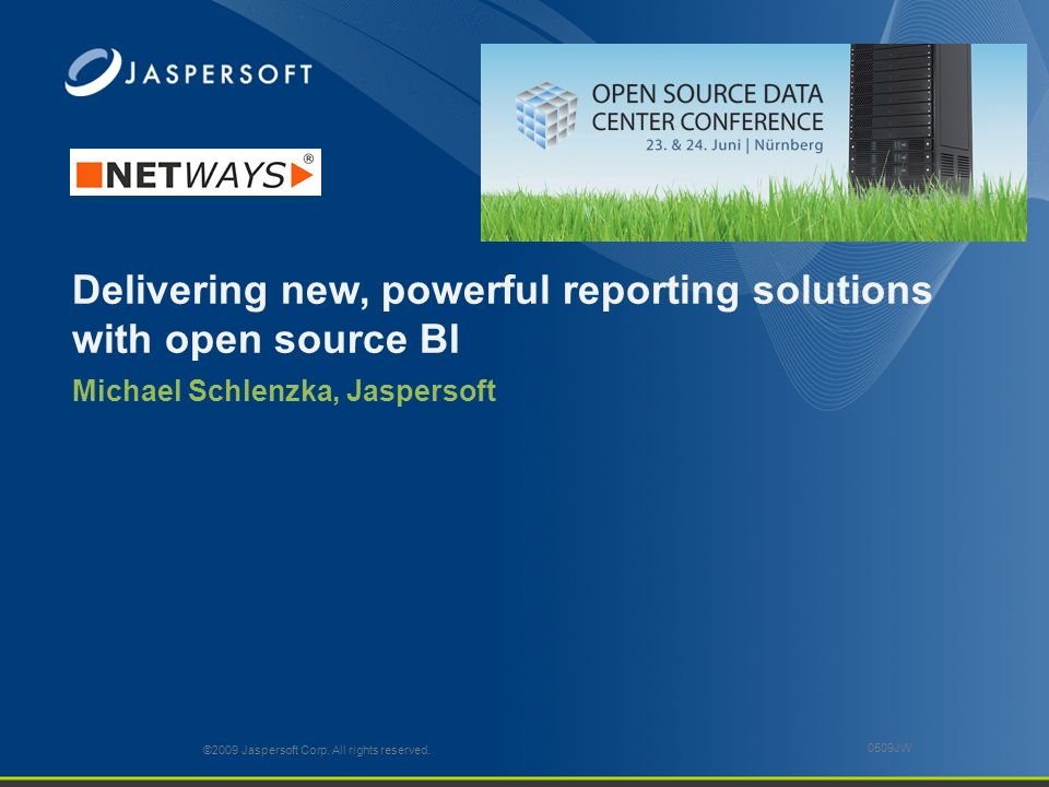 Delivering new, powerful reporting solutions with open source BI