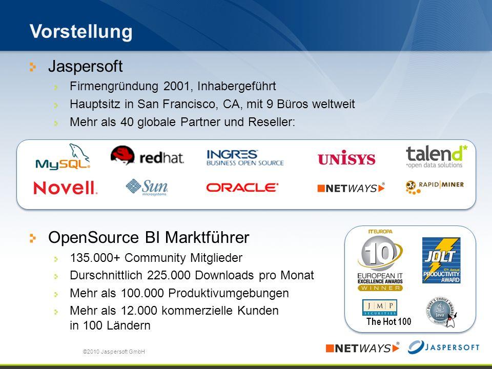 Vorstellung Jaspersoft OpenSource BI Marktführer