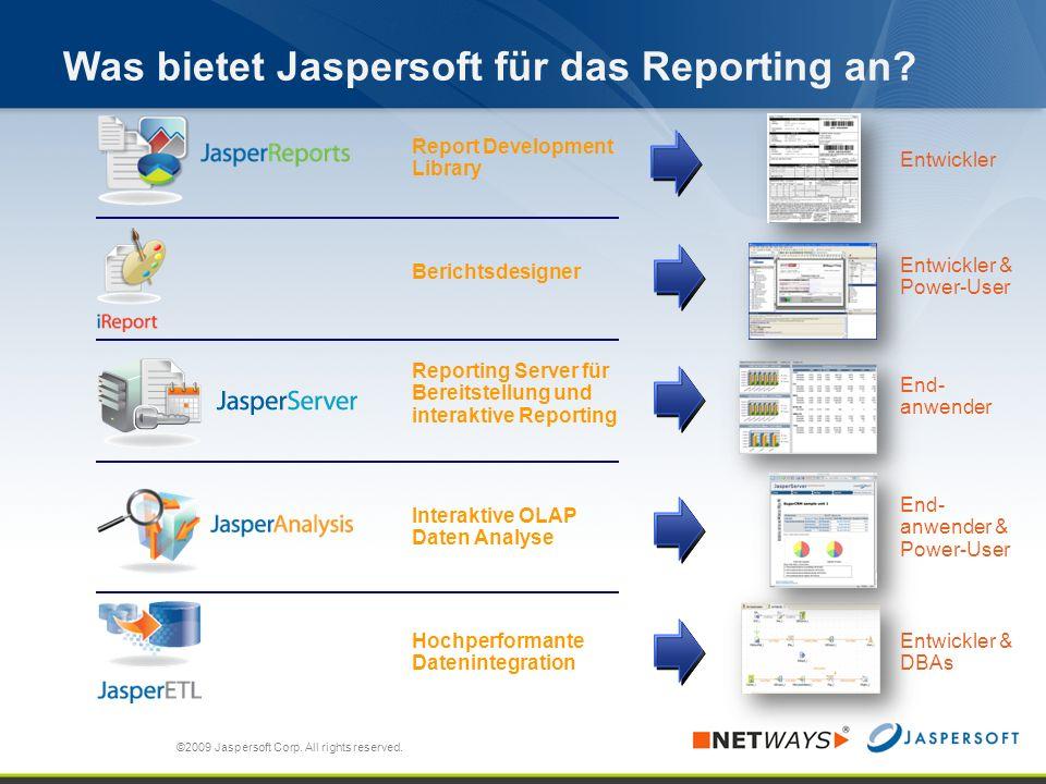 Was bietet Jaspersoft für das Reporting an