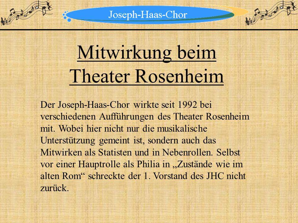 Mitwirkung beim Theater Rosenheim