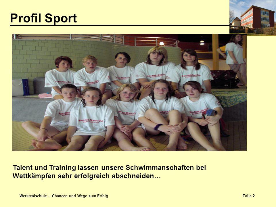 Profil Sport Talent und Training lassen unsere Schwimmanschaften bei