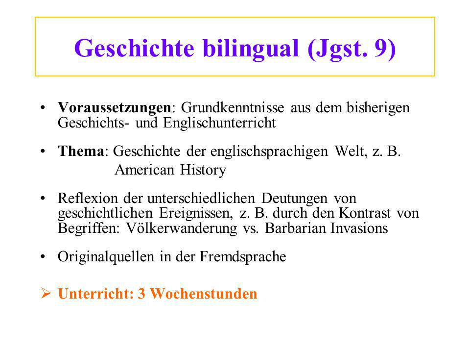 Geschichte bilingual (Jgst. 9)