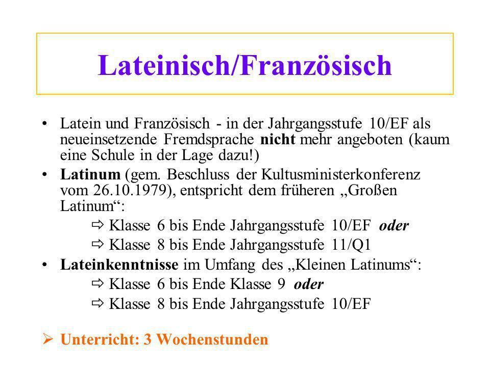 Lateinisch/Französisch