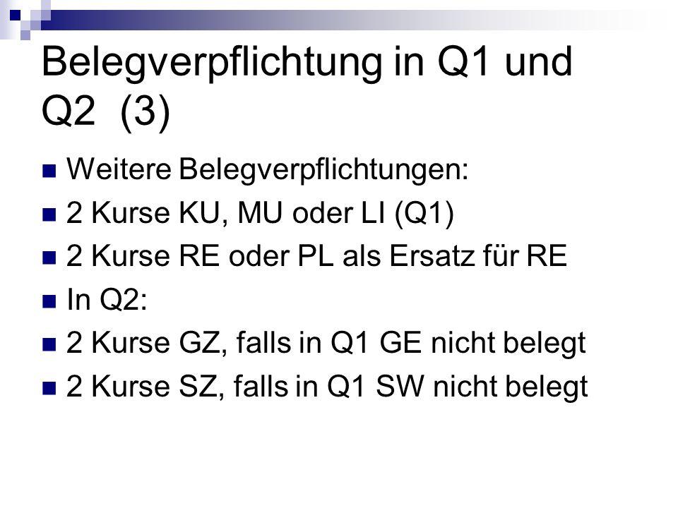 Belegverpflichtung in Q1 und Q2 (3)