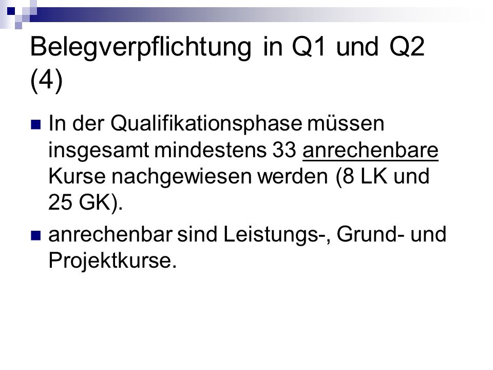 Belegverpflichtung in Q1 und Q2 (4)