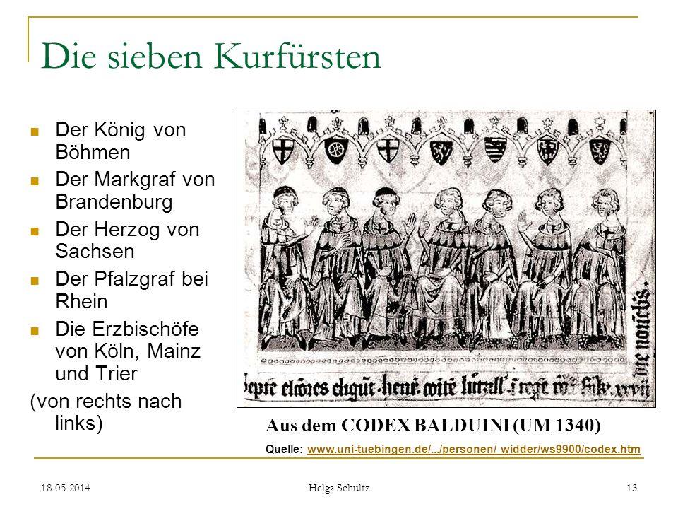 Die sieben Kurfürsten Der König von Böhmen